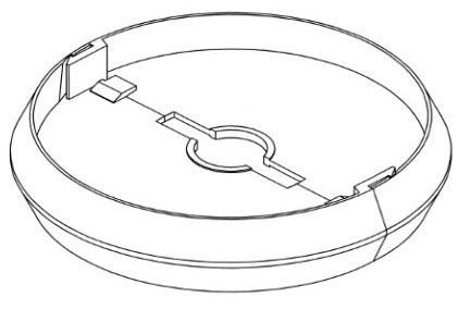 """7.5"""" x 1.718"""", HDPE, Round, Snap-Fit, Lock Assembly for Valve Box"""