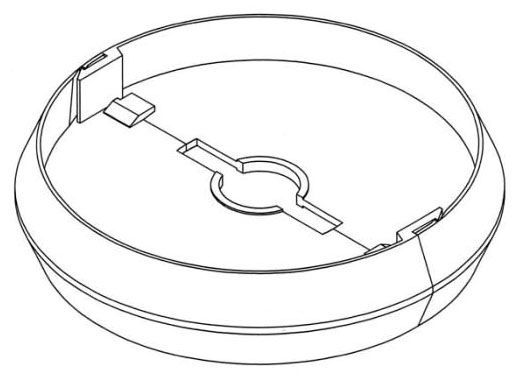 """5.4"""" x 1"""", HDPE, Round, Snap-Fit, Lock Assembly for Valve Box"""