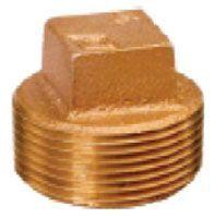 """2"""", MPT, Lead-Free, Brass, Solid, Plug"""