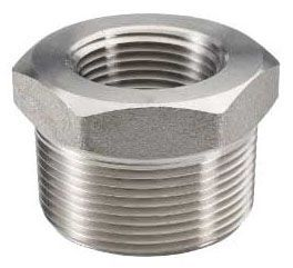 "2"" x 1/4"", FPT x MPT, 290 PSI, Lead-Free, Cast 316 Stainless Steel, Hex Head, Reducing, Bushing"