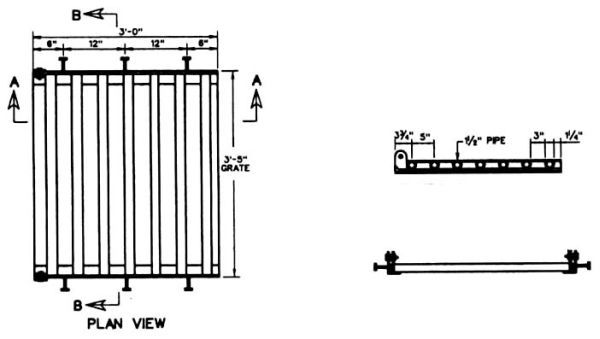 """3' x 3' 5"""" Grate, Galvanized Steel, Hinged, Drainage Frame and Grate"""