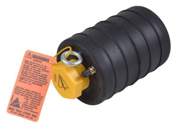 "6"", 13 PSI Back, 35 PSI Inflation, Natural Rubber, Pneumatic, Single Size, Test Ball Plug"