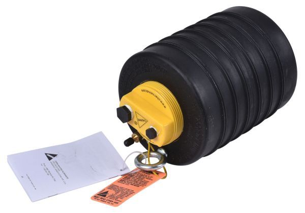 "8"", 13 PSI Back, 35 PSI Inflation, Natural Rubber, Pneumatic, Single Size, Test Ball Plug"