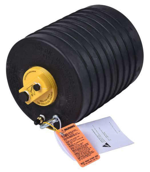 """10"""", 13 PSI Back, 35 PSI Inflation, Natural Rubber, Pneumatic, Single Size, Test Ball Plug"""