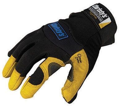 X-Large, Pigskin Palm, Spandex Back, Velcro Closure, Performance, Work Gloves