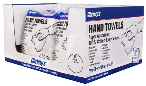 """12"""" x 17"""", Heavy Weight, White Cotton Cloth, Terry Rags (9 to 11 Towels per Bag)"""