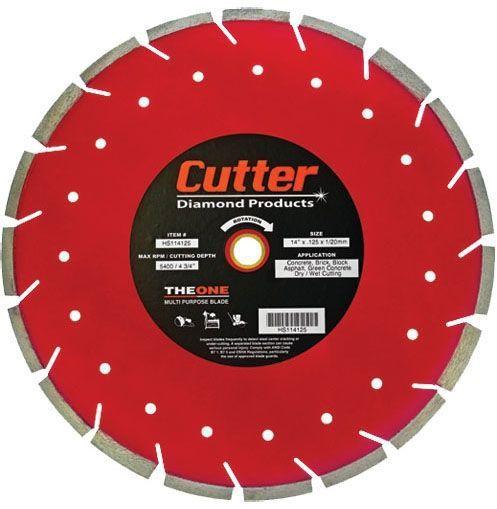 "14"" x 0.125"", 1""/20 MM Bore, Multi-Purpose, Floor Saw Blade for Concrete/Brick/Block/Asphalt and Green Concrete"