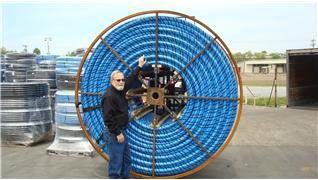 "1"" x 100', IPS x IPS, 250 PSI, SIDR 7, Lead-Free, Blue, HDPE, Water Service Pipe"