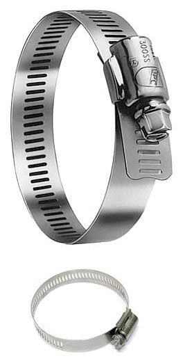 """8-3/4 to 10-3/4"""", 316 Stainless Steel, Interlocked Band, Hose Clamp"""