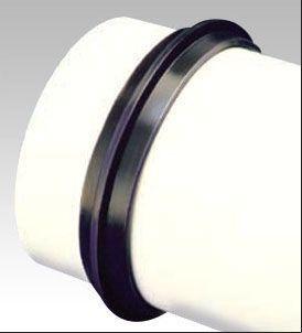 "8"" x 8"", Elastomeric PVC, Cast Iron/Plastic, Straight, Flexible, Concrete Manhole Adapter"