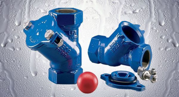 """2"""", FPT x FPT x FPT, 150 PSI, Lead-Free, Epoxy Coated Cast Iron, Ball Check Valve"""