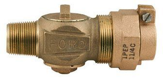 "3/4"" Corporation Stop - CC x Grip Joint For PEP, 100 PSI, Brass, Lead-Free"