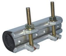 """1"""" Pipe, 1.125"""" OD, 3"""" L, Stainless Steel, Armored Gridded Buna-N Rubber Gasket, Wrap, Pipe Repair Clamp"""