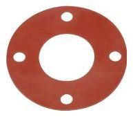 "4"" x 1/8"", 150 PSI, Smooth Red SBR, Full Face, Gasket for Flange Fitting"