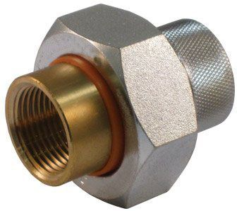 """2"""" x 2"""", FPT x FPT, 200 PSI, Galvanized, Forged Carbon Steel, Straight, Union"""