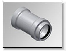 """4"""" x 4"""", Gasketed x Gasketed, SDR 35, Molded, PVC, Straight, Adapter"""
