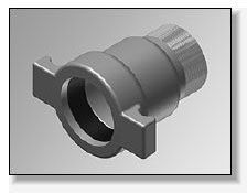 """2-1/2"""" x 2-1/2"""", Belled x MPT, Ductile Iron, Straight, Male Adapter"""