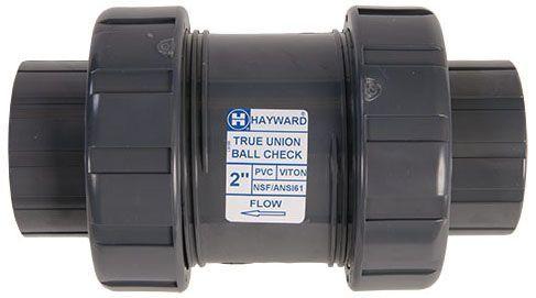 "1-1/2"", Socket/FPT x Socket/FPT, 150 PSI, Lead-Free, PVC, True Union, Ball Check Valve"