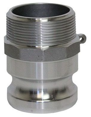 "1-1/2"" x 1-1/2"", MPT x Cam Lock, 250 PSI, 384 Aluminum Alloy, Straight, Adapter"