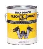 1 Gallon Can, Lead-Free, 105 Deg F Flash Point, 1 Hr, 4 to 6 Hr Touch, Black, Asphalt Enamel, Black Dragon® Gilsonite Asphalt Paint