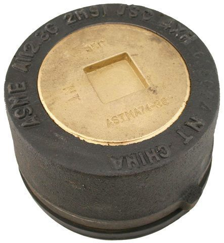 """6"""", Round Top, Cast Iron, Extra Heavy Load, Push-On, Cleanout with Gasket and 4"""" Countersunk Plug"""