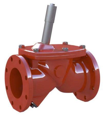 """4"""", ANSI Class 125 Flanged x ANSI Class 125 Flanged, 250 PSI, Ductile Iron, Ken-Flex, Resilient Hinged, Check Valve"""