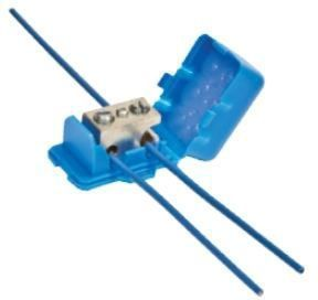 14 to 10 AWG, Solid Copper/Steel Core Tracer Wire, 50 V, Aqua, Tin Plated High Conductivity Aluminum, Direct Bury Lug