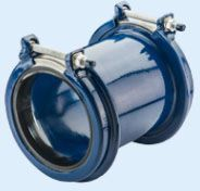 "2"" x 2"", 2.10 to 3.03"" Pipe OD, 260 PSI, Lead-Free, Fusion Bonded Epoxy Coated, Steel, Wide Range, Straight, Coupling"