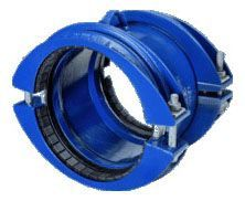 "4"" x 4"", 4.4 to 5.1"" Pipe OD, 350 PSI, Lead-Free, Fusion Bonded Epoxy Coated, Ductile Iron, Straight, Grip Coupling"