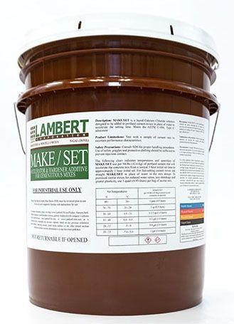 55 Gallon Drum, Clear, Liquid Form, Lambco® Make Set® Cement Additive
