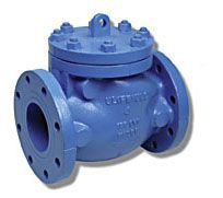 """4"""", Flanged x Flanged, 175 PSI CWP, Fusion Bonded Epoxy Coated Cast Iron, Bolted Cap, Swing, Check Valve"""