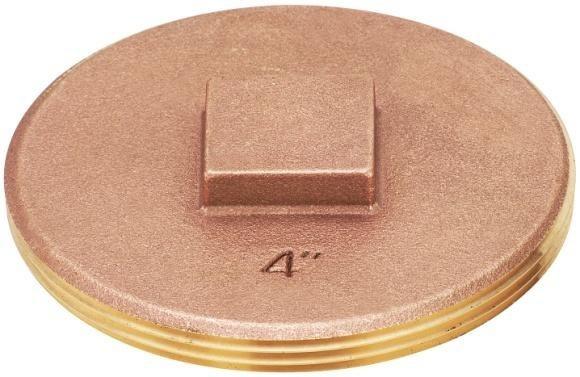 "3"", MPT, Brass, Raised Square Head, Cleanout Plug"