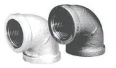 """6"""" x 6"""", FPT x FPT, Lead-Free, 150 PSI, Galvanized, Malleable Iron, 90D, Straight, Elbow"""