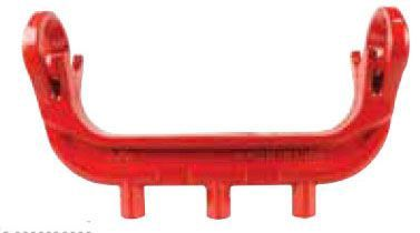 "10.9"" x 5.15"", Powder Coated Cast Iron, Pronged, Yoke Bar for 5/8"" x 3/4"" Meter Box"