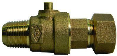 "3/4"" Ball Corporation Stop - CC x TJC, 300 PSI, Brass, Lead-Free, Full Port"