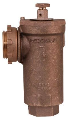 """3/4"""", Yoke Star Nut x -22 CTS Compression, 175 PSI, Lead-Free, Brass, Angle, In-Line, Dual Check, Backflow Preventer"""