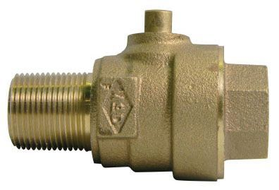 """2"""" Ball Corporation Stop - MIP x FIP, 300 PSI, Brass, Lead-Free"""