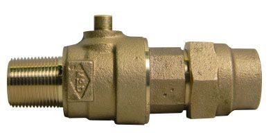 """2"""" Ball Corporation Stop - MPT x G CTS Compression, 300 PSI, Brass, Lead-Free"""