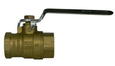 """3/4"""", FPT x FPT, 600 PSI WOG, Lead-Free, Steel Lever Handle, Chrome Plated Brass Ball, Heavy Duty Brass Body, Specialty, Full Port, Ball Valve"""