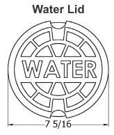 "7-5/16"" x 3-1/2"", 5-1/4"" Shaft, Cast Iron, Heavy Duty, Logo Water, Domestic, Lid for Valve Box"
