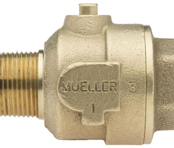 "1"" Ball Corporation Stop - MIP x FIP, 300 PSI, Brass, Lead-Free, Straight"