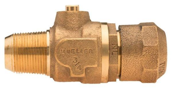 """1"""" Ball Corporation Stop - CC x CTS Pack Joint, 300 PSI, Brass, Lead-Free, Straight"""