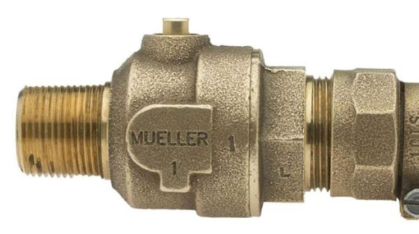 """1"""" Ball Corporation Stop - MIP x CTS Pack Joint, 300 PSI, Brass, Lead-Free, Straight"""