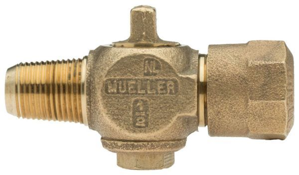 "1"" Ground Key Corporation Stop - CC x 110C, 100 PSI, Brass, Lead-Free, Straight"