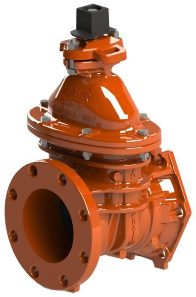 "4"", Mechanical Joint x Class 125 Flanged, 350 PSI Working/700 PSI Static, Lead-Free, Manganese Bronze Non-Rising Stem, Ductile Iron 2"" Square Open Left Wrench Nut, Fusion Bonded Epoxy Coated Ductile Iron Body, Resilient Wedge, Gate Valve without Accessory"
