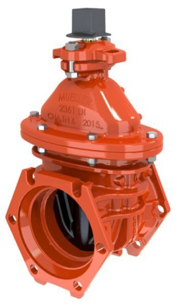 """12"""", Mechanical Joint x Mechanical Joint, 350 PSI Working/700 PSI Static, Lead-Free, Manganese Bronze Non-Rising Stem, Ductile Iron 2"""" Square Open Left Wrench Nut, Fusion Bonded Epoxy Coated Ductile Iron Body, Resilient Wedge, Gate Valve without Accessory"""