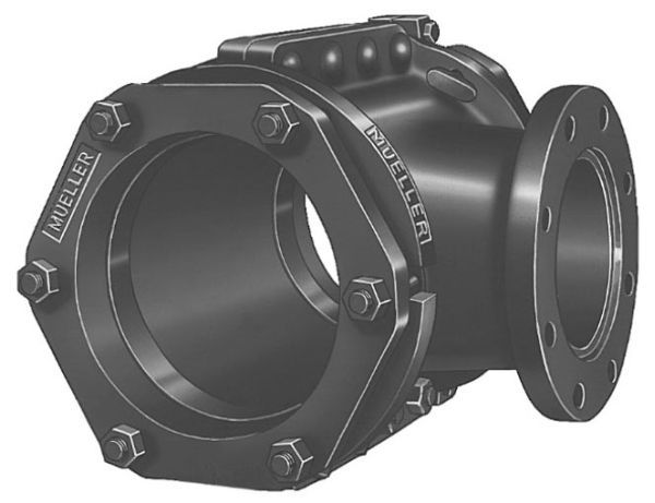 """6"""" Pipe, 6"""" Mechanical Joint Outlet, 6.84 to 7.4"""" OD, 250 PSI, Lead-Free, EPDM Gasket, Ductile Iron, Tapping Sleeve"""