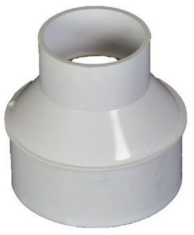 "2"" x 4"", Schedule 40 Hub x Sewer and Drain Spigot, White, PVC, Adapter for Profile Channel Drain"