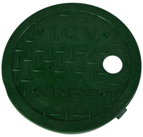 "6"", Green, ICV Logo, Round, Valve Box Cover"