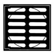 "12"", Black Painted, Ductile Iron, Hinged, Standard, Grate for Drain"